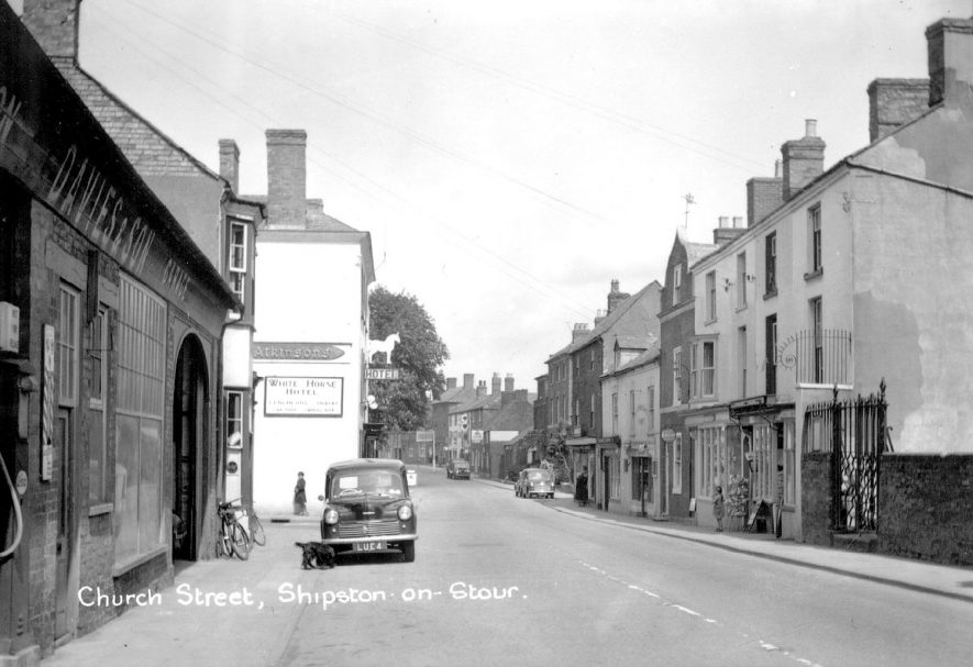 Looking along Church Street, Shipston on Stour.  1950s |  IMAGE LOCATION: (Warwickshire County Record Office)