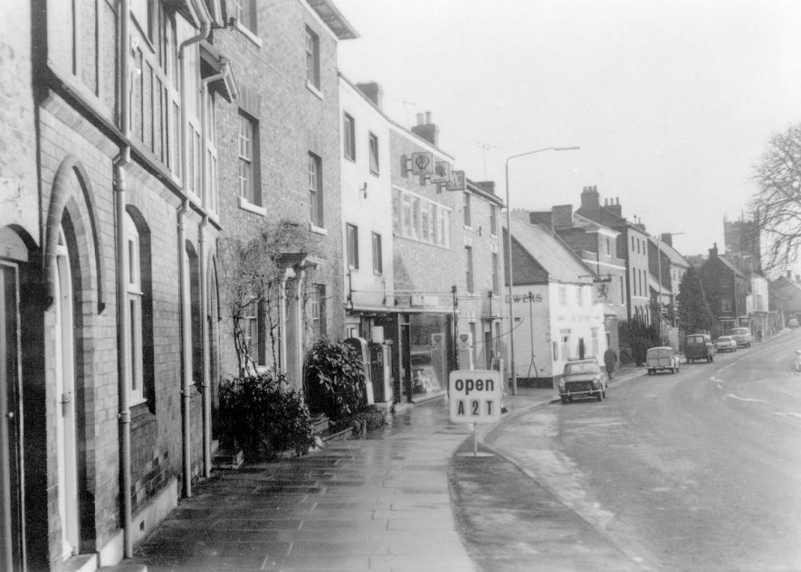 View looking along Church Street, Shipston on Stour.  1960s |  IMAGE LOCATION: (Warwickshire County Record Office)