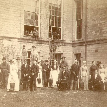 Ragley Hall.  Servants Fire Brigade
