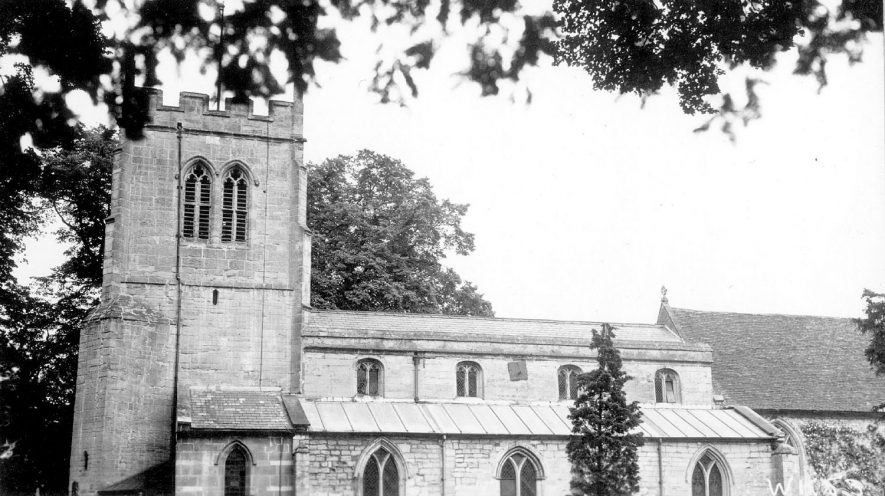 Exterior view of the north side of St James' Church, Snitterfield.  1938 |  IMAGE LOCATION: (Warwickshire County Record Office)