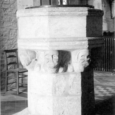 Snitterfield.  Parish church, the font