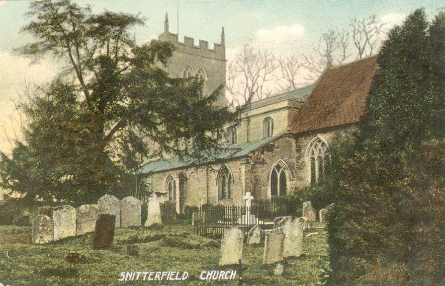 Exterior view of  St James' Church, Snitterfield.  1938    IMAGE LOCATION: (Warwickshire County Record Office)
