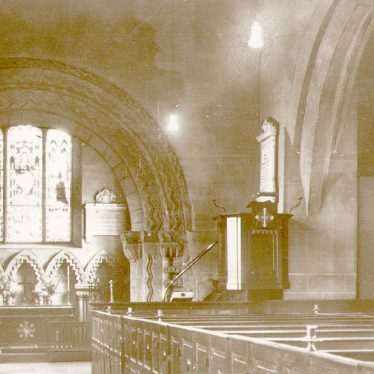 Stoneleigh.  Church, interior