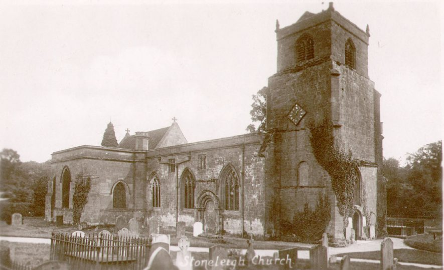 North side of St Mary's church, Stoneleigh.  1940s |  IMAGE LOCATION: (Warwickshire County Record Office)