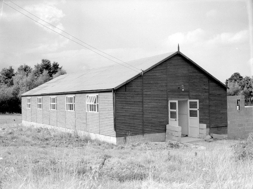 Stretton on Fosse Village Hall exterior.  1958 |  IMAGE LOCATION: (Warwickshire County Record Office)