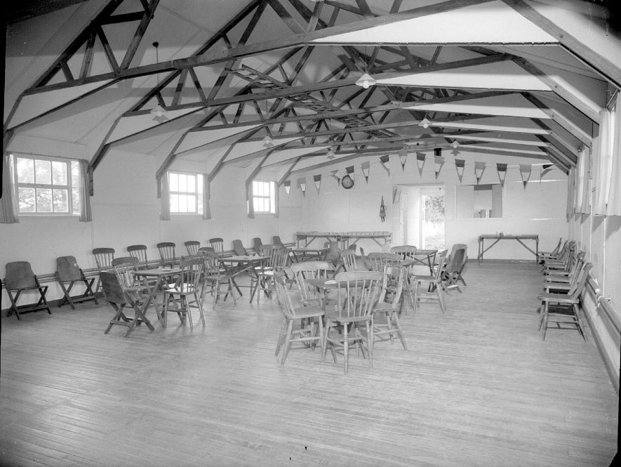 Stretton on Fosse Village Hall interior.  1958 |  IMAGE LOCATION: (Warwickshire County Record Office)