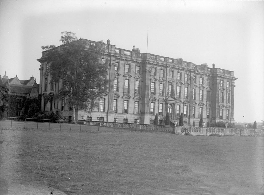 The front of Stoneleigh Abbey.  1950s |  IMAGE LOCATION: (Warwickshire County Record Office)