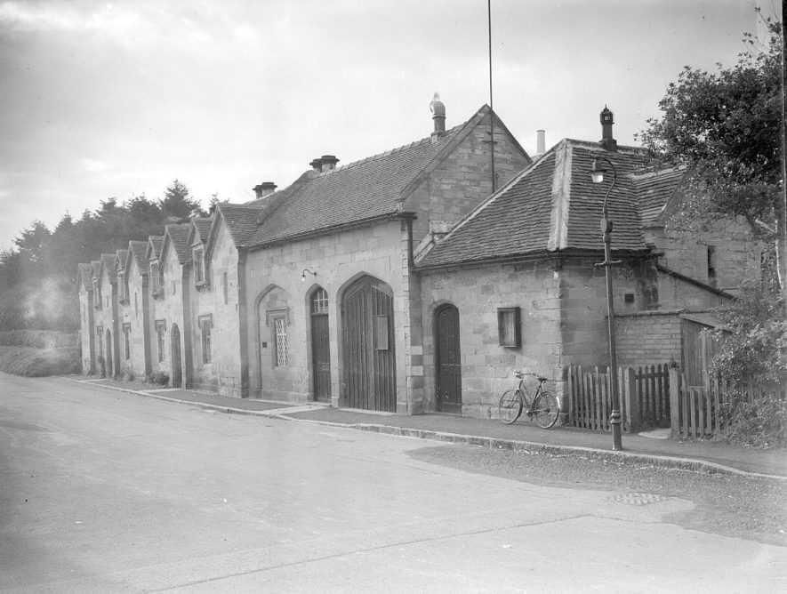 Front of the one hundred year old Village Club, Stoneleigh.  1956 |  IMAGE LOCATION: (Warwickshire County Record Office)