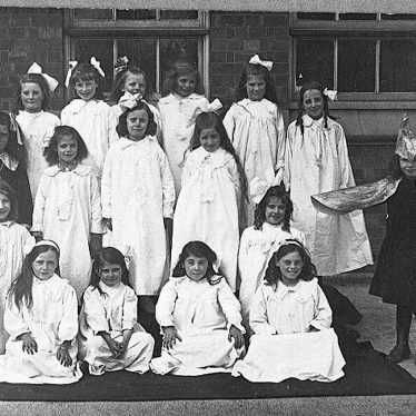 Stockingford.  Council School pupils in fancy dress