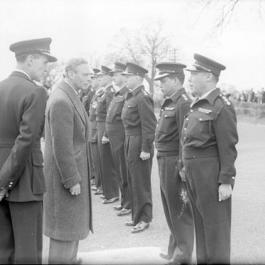 Ryton on Dunsmore.  King George VI Visit to Police HQ