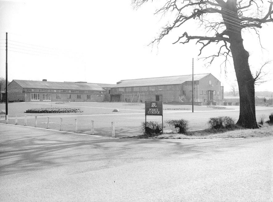 Exterior view of the police training college at Ryton on Dunsmore.  March 2nd 1957 |  IMAGE LOCATION: (Warwickshire County Record Office)