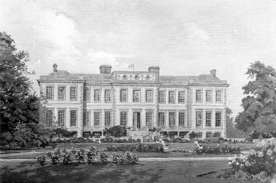 Ragley Hall from a painting by W.T. Rawlinson.  1958 |  IMAGE LOCATION: (Warwickshire County Record Office)