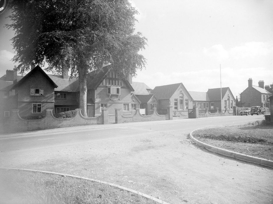 Front exterior of Ellen Badger cottage hospital, Shipston on Stour.  September 13th 1956 |  IMAGE LOCATION: (Warwickshire County Record Office)