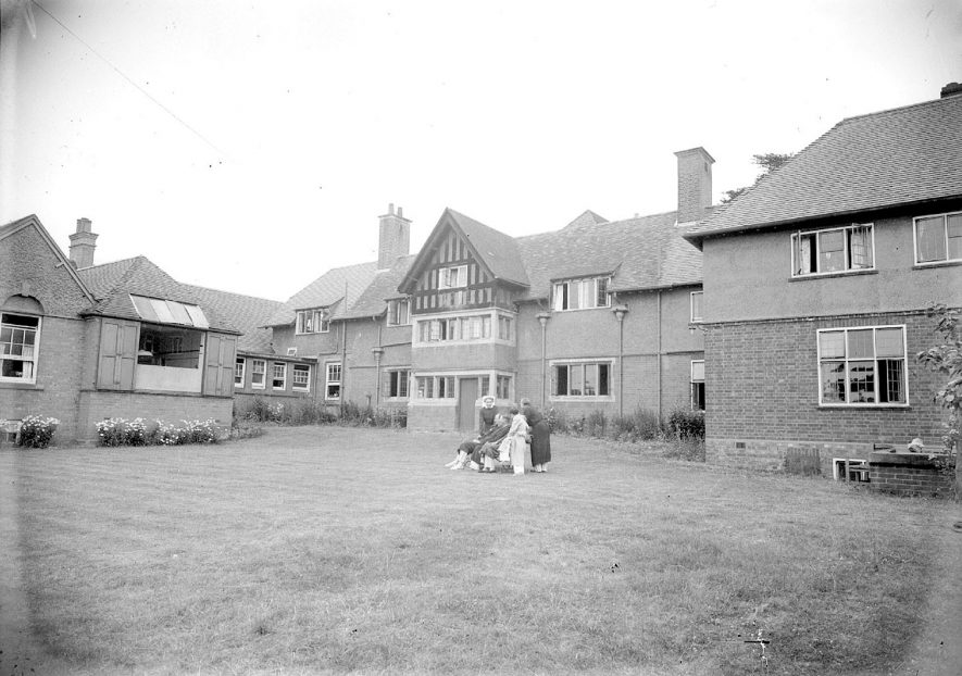 Rear of Ellen Badger cottage hospital and garden, Shipston on Stour.  July 1951 |  IMAGE LOCATION: (Warwickshire County Record Office)