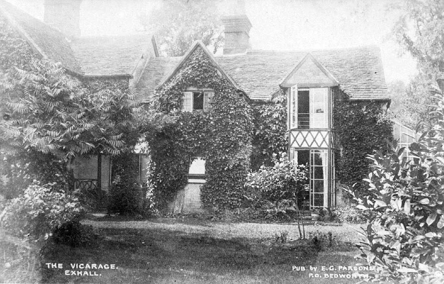 The Vicarage, Exhall, nr Coventry.  1900s |  IMAGE LOCATION: (Warwickshire County Record Office)