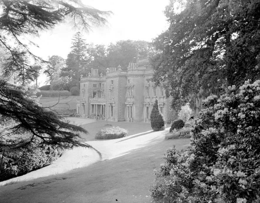 The front exterior of Shuckburgh Hall, Shuckburgh Park. June 1st 1952 |  IMAGE LOCATION: (Warwickshire County Record Office)