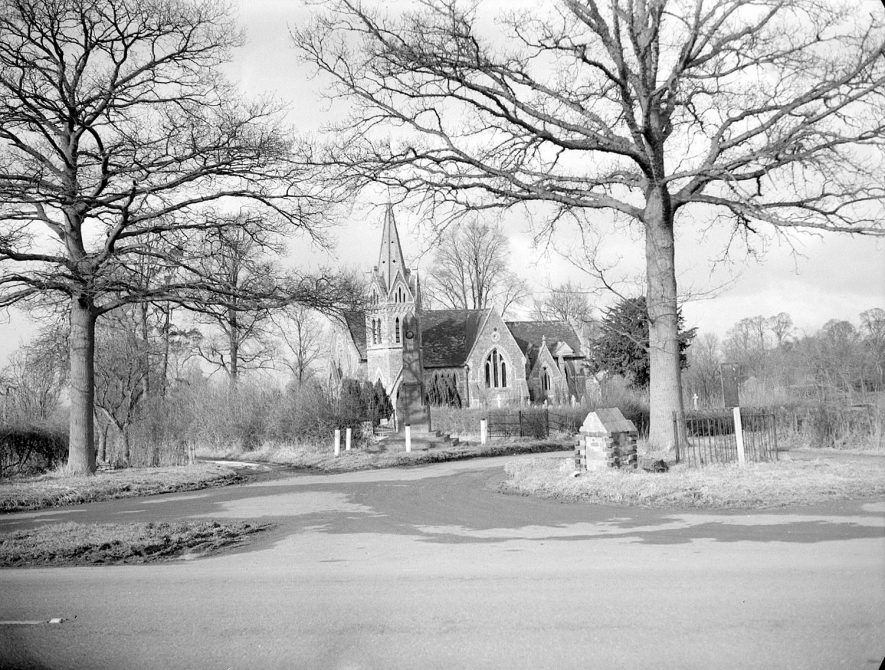 St John the Baptist church, Lower Shuckburgh.  March 10th 1955 |  IMAGE LOCATION: (Warwickshire County Record Office)