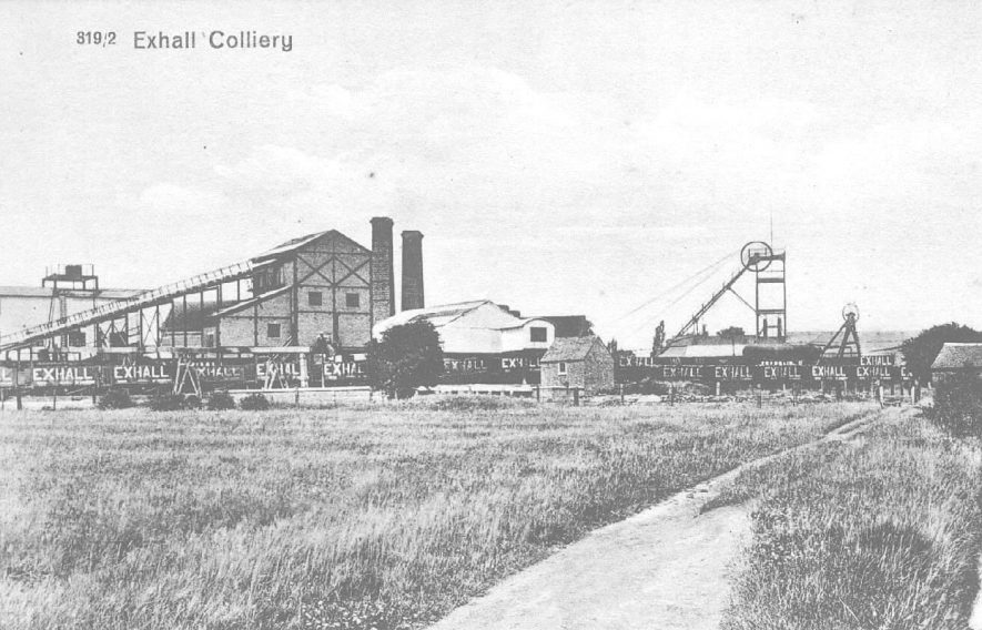 Pithead and winding gear, Exhall, nr Coventry.  1920s |  IMAGE LOCATION: (Warwickshire County Record Office)