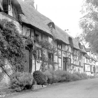 Shottery.  Timber-frame cottages