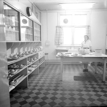 Tiddington.  Monroe Devis Hospital kitchen