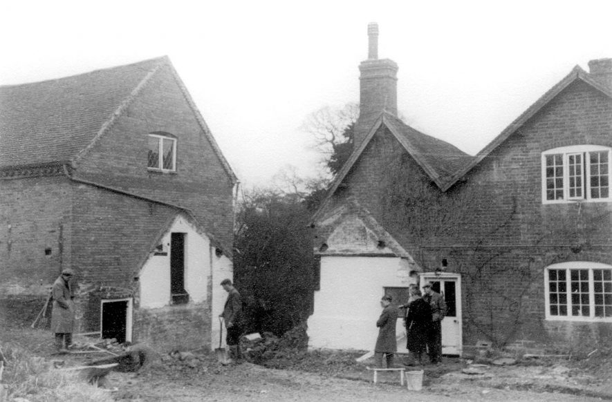 Tan Mill, undergoing restoration, Tanworth in Arden.  1950s |  IMAGE LOCATION: (Warwickshire County Record Office)
