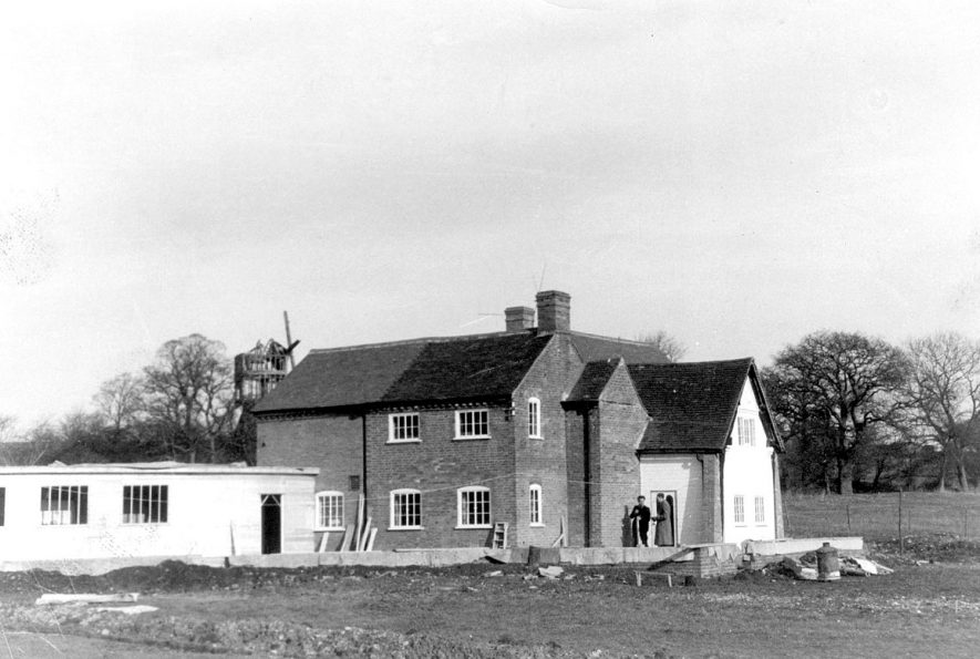 Tan Mill, nearing the end of restoration and building work. Tanworth in Arden.  February 22nd 1960 |  IMAGE LOCATION: (Warwickshire County Record Office)