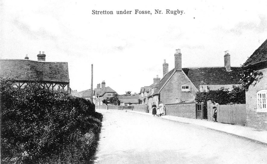Village street in Stretton under Fosse.  1900s |  IMAGE LOCATION: (Warwickshire County Record Office)