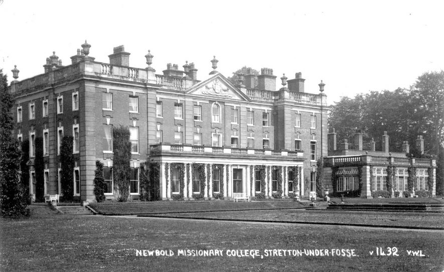 Exterior of Newbold Revel missionary college, Stretton under Fosse.  1930s |  IMAGE LOCATION: (Warwickshire County Record Office)