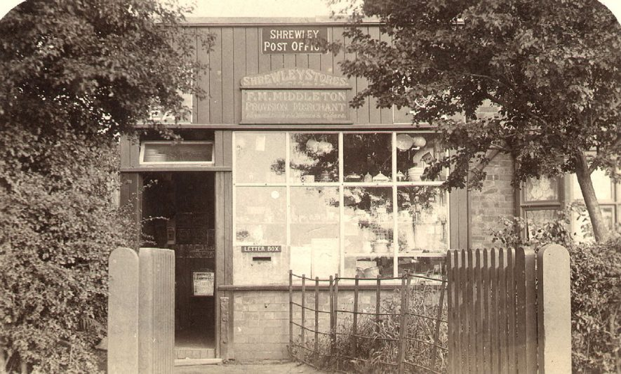 Shrewley Post Office.  1900s |  IMAGE LOCATION: (Warwickshire County Record Office)