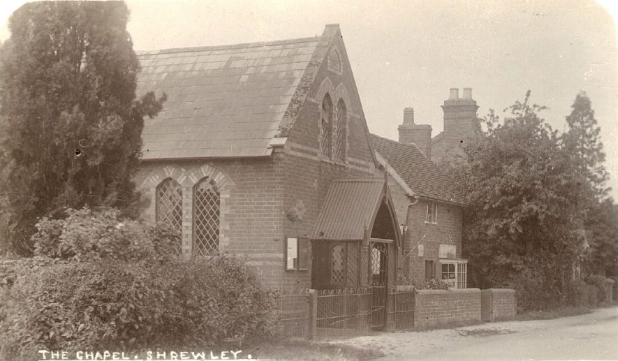 The chapel, Shrewley.  1900s |  IMAGE LOCATION: (Warwickshire County Record Office)