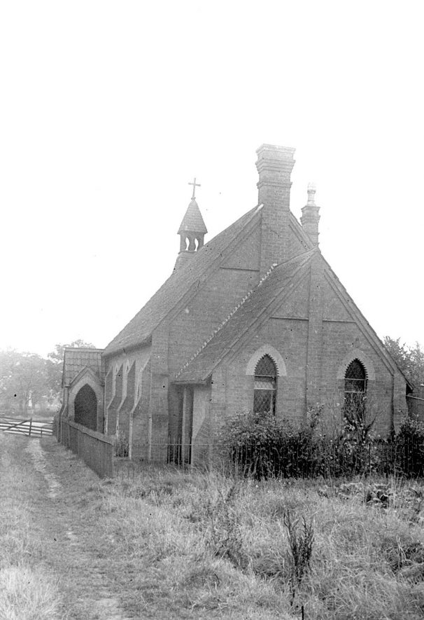 Exterior of the parish room at Sambourne.  1920s |  IMAGE LOCATION: (Warwickshire County Record Office)