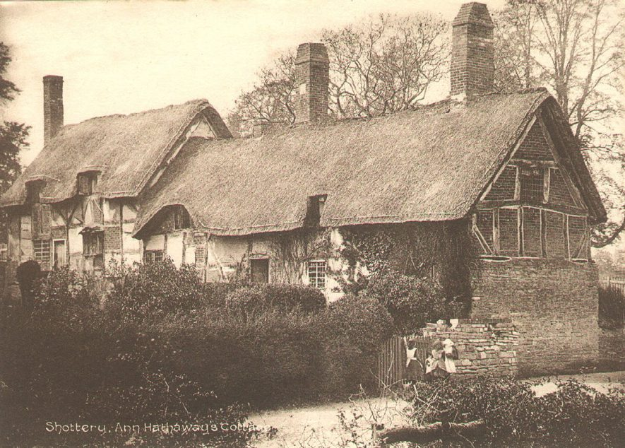 Ann Hathaway's cottage, Shottery.  1890s |  IMAGE LOCATION: (Warwickshire County Record Office)