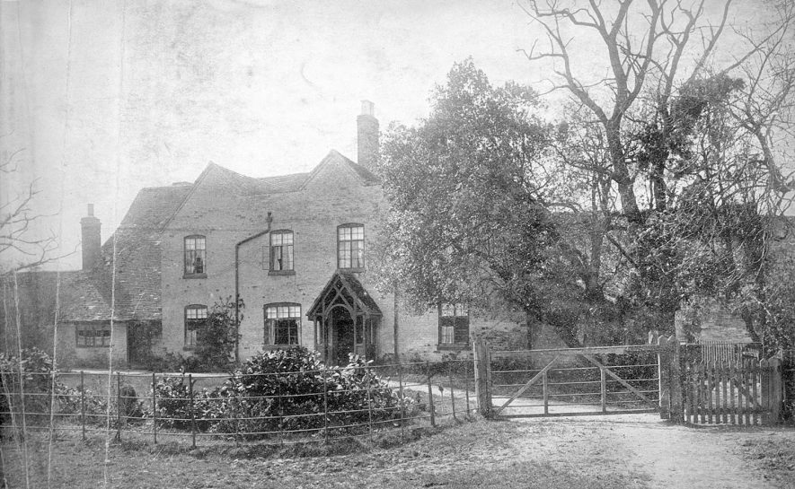 The farmhouse at Hathaway Farm (formerly Burman's Farm), Shottery.  1920s |  IMAGE LOCATION: (Warwickshire County Record Office)