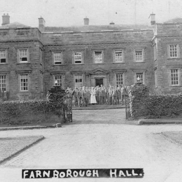 Farnborough Hall.  Hospital in the Great War