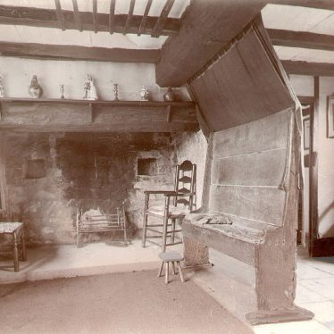 Shottery.  Anne Hathaway's Cottage, the parlour
