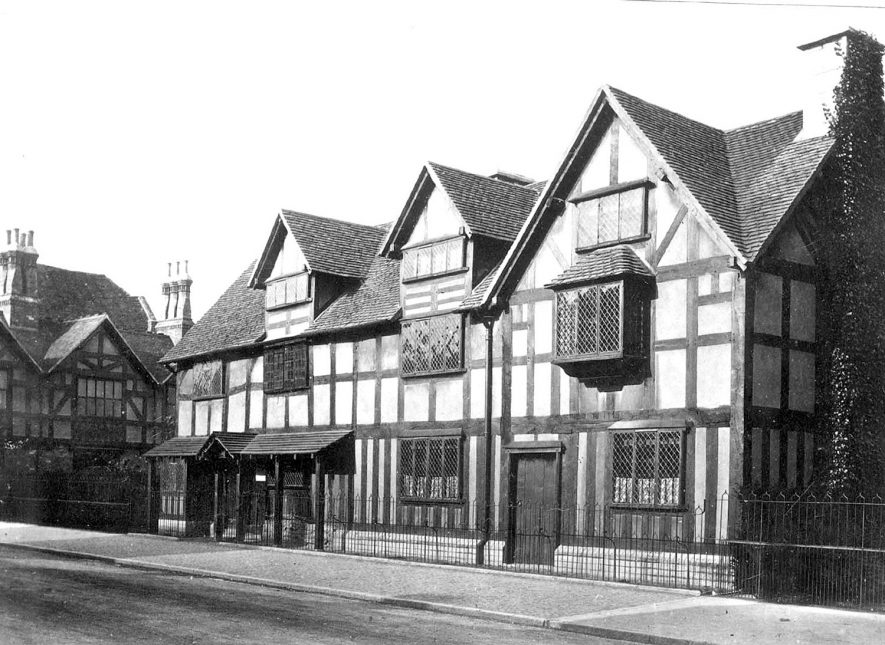 Shakespeare's Birthplace, Stratford upon Avon. 1880 - 1889. |  IMAGE LOCATION: (Warwickshire County Record Office)
