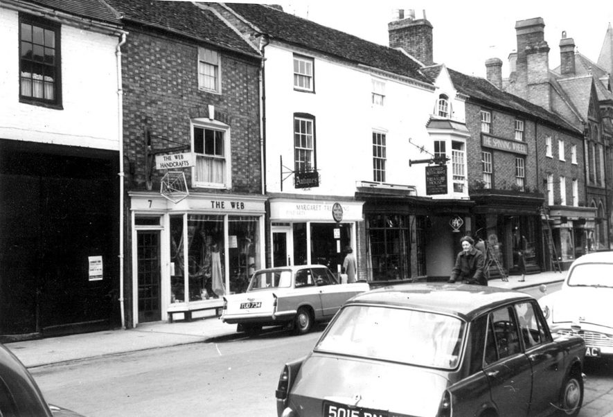 View of Chapel Street.  Stratford upon Avon.  1963. |  IMAGE LOCATION: (Warwickshire County Record Office)