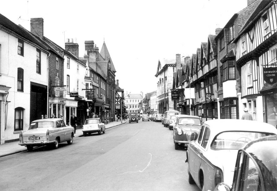 View of Chapel Street, Stratford upon Avon. 1963. |  IMAGE LOCATION: (Warwickshire County Record Office)