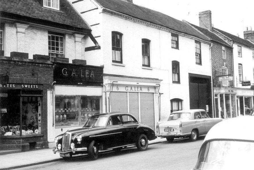Part of a street in Stratford upon Avon.  1963. |  IMAGE LOCATION: (Warwickshire County Record Office)