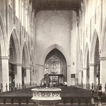 Stratford upon Avon.  Holy Trinity Parish Church interior