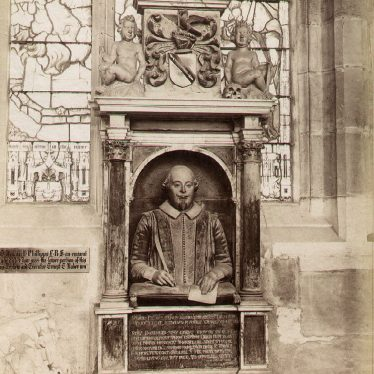 Stratford upon Avon.  Holy Trinity Church, Shakespeare Monument