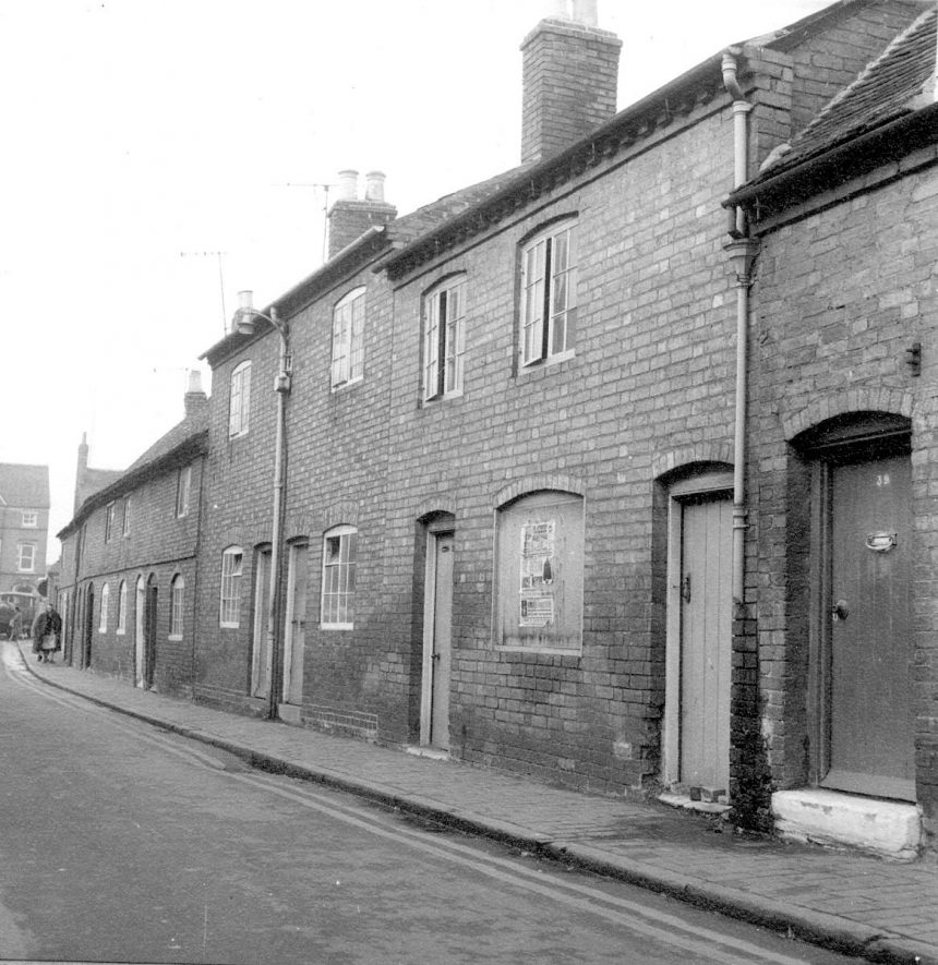 Exterior of 30-39 Ely Street, Stratford upon Avon.  1966    IMAGE LOCATION: (Warwickshire County Record Office)