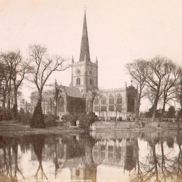 Stratford upon Avon. Holy Trinity Church from the river