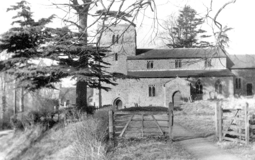 St. Peter's Church, Wormleighton.  1930s |  IMAGE LOCATION: (Warwickshire County Record Office)