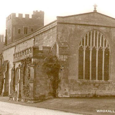 Wroxall.  Abbey, church