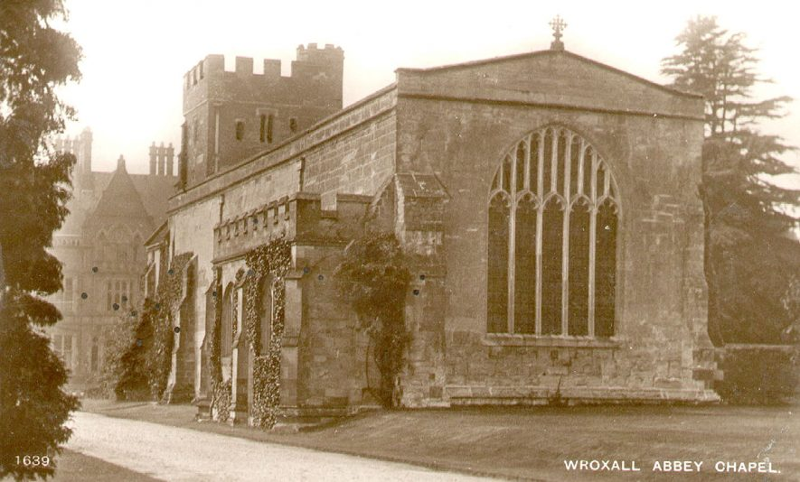 Wroxall Abbey church.  1920s |  IMAGE LOCATION: (Warwickshire County Record Office)