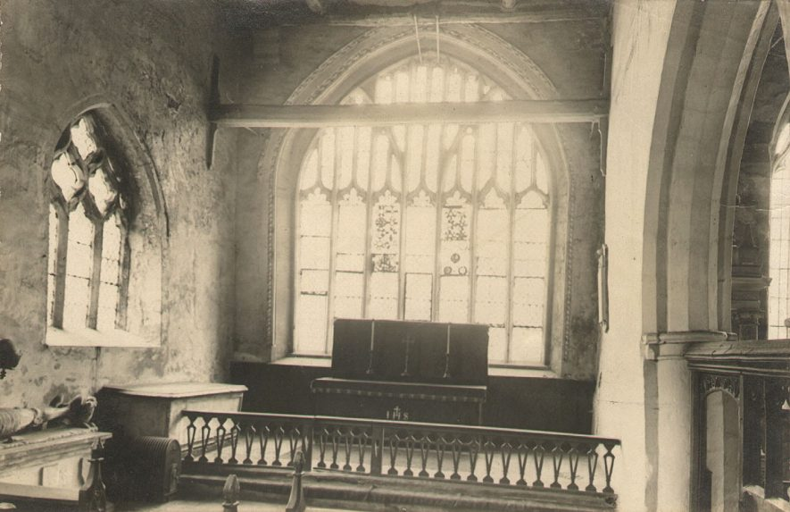 Wootton Wawen Parish church interior.  1900s. |  IMAGE LOCATION: (Warwickshire County Record Office)