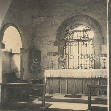 Wootton Wawen.  Parish Church interior