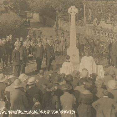 Wootton Wawen.  Dedication of war memorial