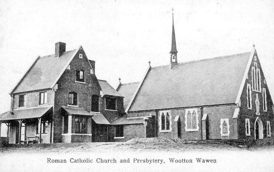 Wootton Wawen Roman Catholic church and presbytery. 1905 |  IMAGE LOCATION: (Warwickshire County Record Office)
